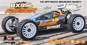 HOBBYTECH 1/8 Brushed Buggy RTR BX8 Runner Orange - HT-SL.BX8.RUNNER-O