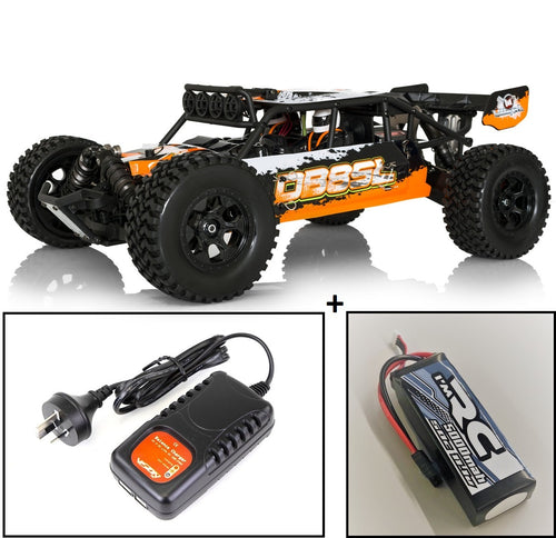 HOBBYTECH 1/8 RTR Orange Desert Buggy type SL with 11.1v Battery & 240v Charger - HT-SL.DB8.OR.RTR