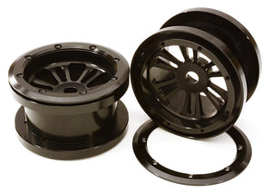 CNC Machined D6 Spoke Beadlock 2.2 Wheels(2) for Axial Ridgecrest & Wraith 2.2