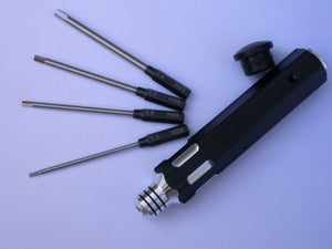 PROLUX 1305A INTERCHANGEABLE HEX DRIVER SET (METRIC) 1.5. 2. 2.5 & 3MM