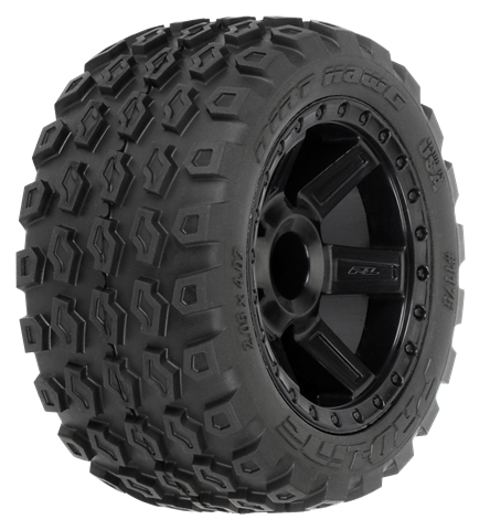 PROLINE DIRT HAWG 2.8 MOUNTED ON DESPERADO BLACK WHEELS 2PCS - PR1175-12