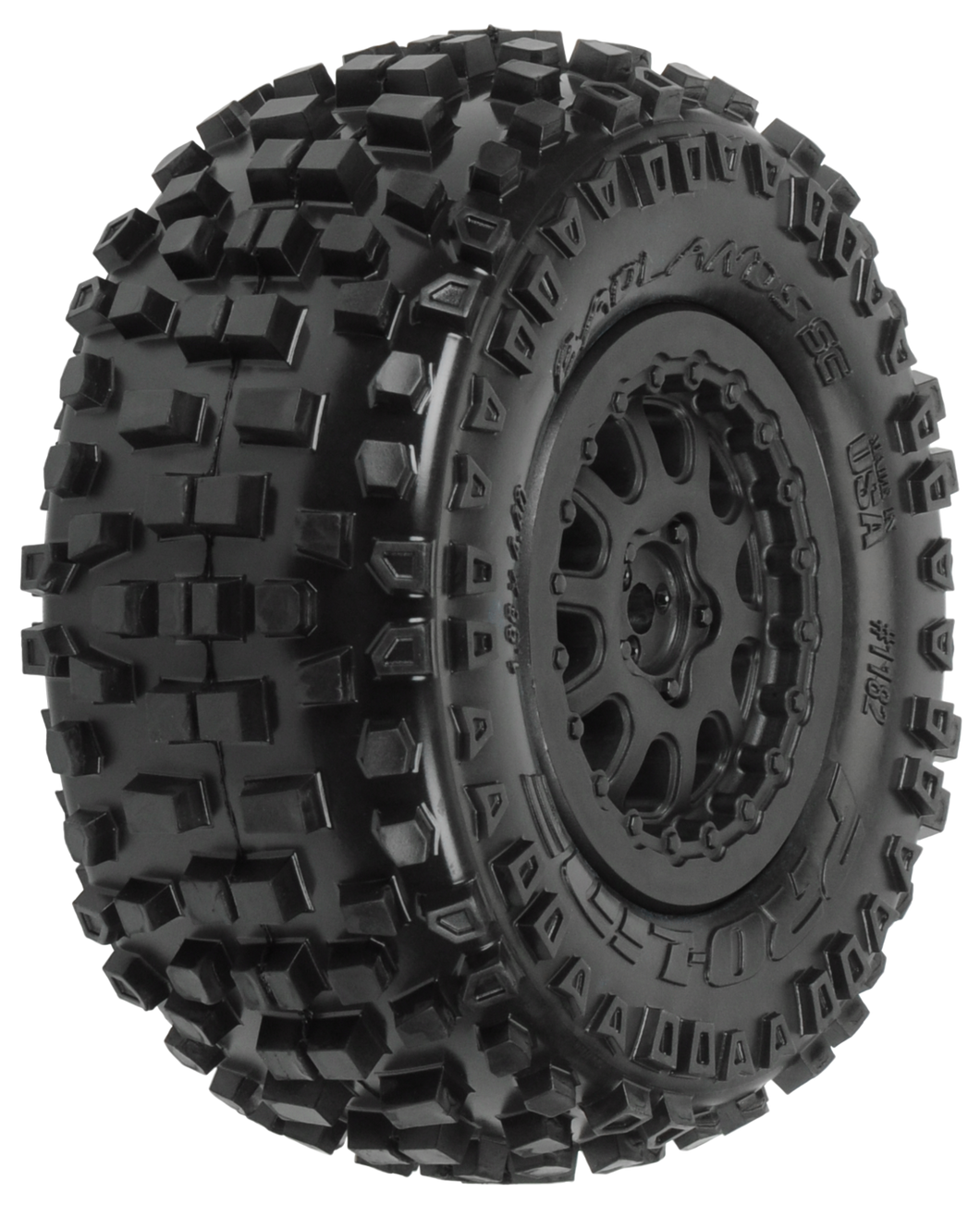 PROLINE BADLANDS SHORT COARSE MOUNTED TYRES ON RENEGADE WHEELS 2PCS - PR1182-15