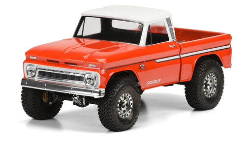 1966 CHEVROLET C-10 CLEAR BODY FOR SCX10 - CAB AND BED - PR3483-00
