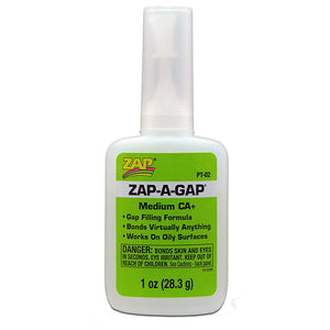 ZAP PT-02 1 OZ. GREEN ZAP-A-GAP CA+ 1 BOTTLE