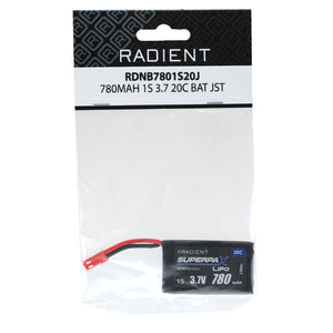 RADIENT ARES AZSQ1805 780MAH 1-CELL/1S 3.7V 20C LIPO BATTERY: SHADOW 240