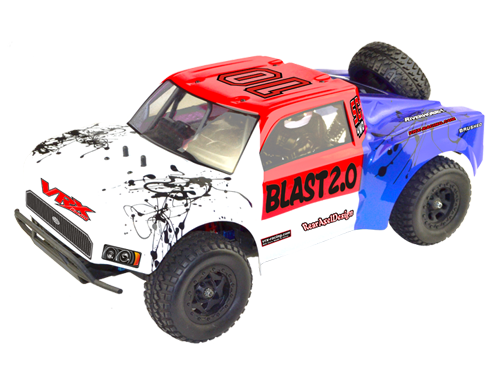 Octane Blast 2.0 Brushless RTR w/ESC, 3650 motor, 7.4V 3250mAH , 2.4G radio, alum shocks, rollcage with drivers, spare wheel, balance Charger,R # RH-1045SC