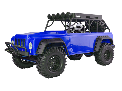 MC28 Brushed Crawler RTR w/7.2V 1800mAH NI-MH battery, Wall Charger, 2.4GHz radio, 285mm wheelbase, alum linkages, steel main frame, 9kg/cm servo,