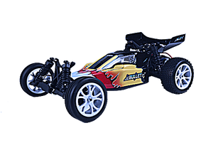 VRX RACING Bullet 2WD Brushed RTR w/7.2V 1800mAH NI-MH battery, wall charger, 2.4G-2 in-1ESC combo