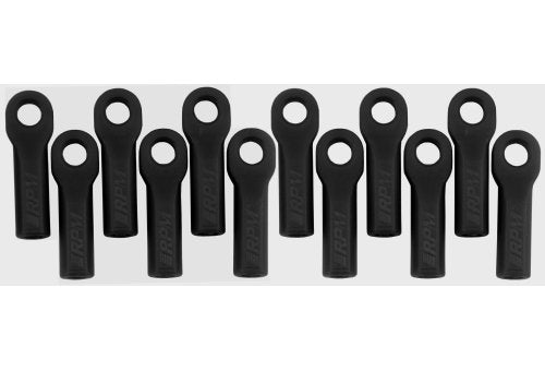 RPM Black Traxxas Long Rod Ends 12Pcs #85012