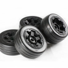 "Rovan 4.7/5.5"" Baja 5B Slick Tyres on Black Rims - Beadlocked Wheel Set # 85117"