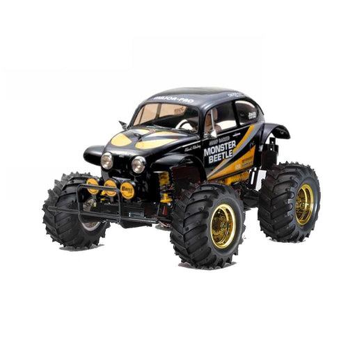 Tamiya 1/10 Monster Beetle Black RC Assembly Kit 47419