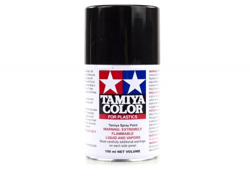 Tamiya TS-6 Matte Black Lacquer Spray Paint 100ml