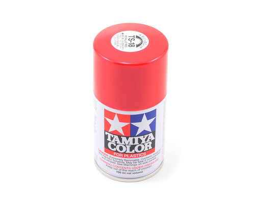 85018 | Tamiya TS-18 Metallic Red Lacquer Spray Paint 100ml