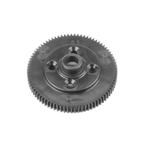 TEKNO TKR6522B – SPUR GEAR (REVISED MATERIAL, 81T, 48PITCH, BLACK, EB410.2)  #TKR6522B