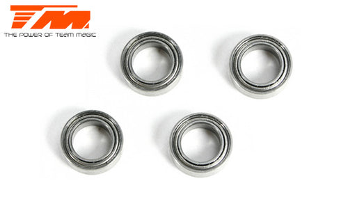 TEAM MAGIC Ball Bearings metric 4x 7x2.5mm (4 pce) #150407ST
