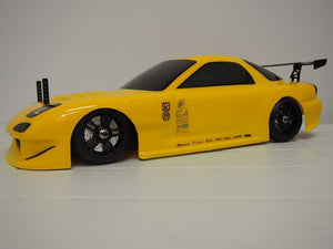 TEAM MAGIC RX7 painted shell (yellow) 190mm no holes #TM503321YA