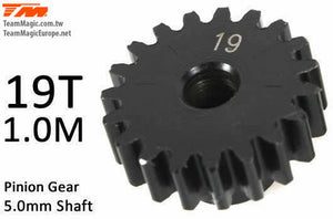 TEAM MAGIC Pinoion gear M1 for 5mm shaft 19T #TMK6602-19