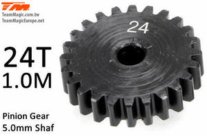 TEAM MAGIC Pinoion gear M1 for 5mm shaft 24T #K6602-24