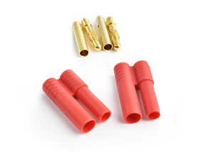 TORNADO RC 4.0mm gold connector w/housing(Short) 2pcs/bag