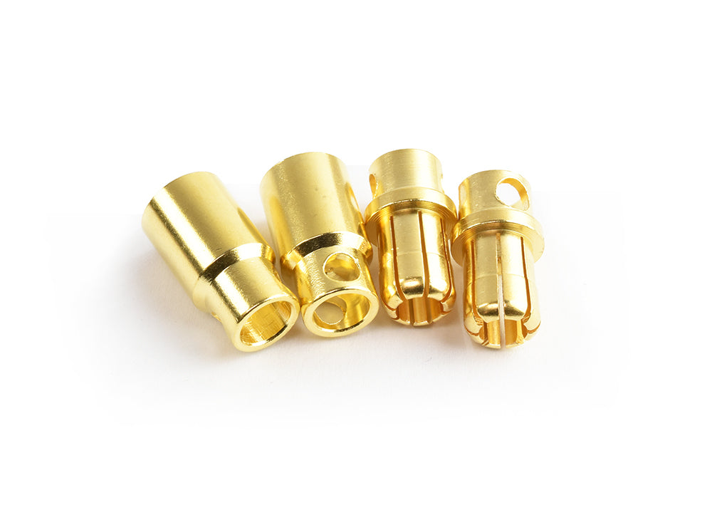TORNADO RC 8.0mm gold plated connector(F&M) 2pairs/bag