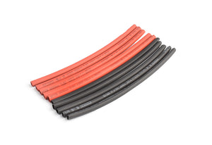 TORNADO RC 3mm PE heat shrink red & black-10cm long, 5sets/bag