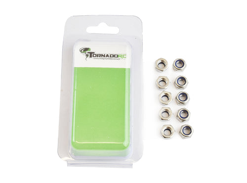 TORNADO RC 5MM NYLOCNUT 10 PER PACK