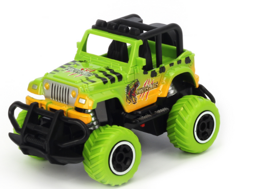1:43 Scale mini off-road graffito jeep Green RTR car Body, (Requires AA Batteries) #TRC-6146S-G