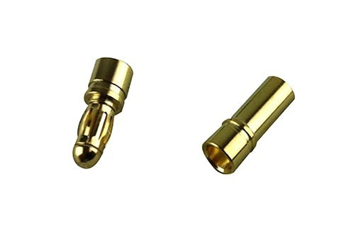 TORNADO RC 4.0MM BULLET PLUGS (2)