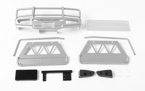 RC4WD Trifecta Front Bumper, Sliders and Side Bars for Land Cruiser LC70 Body (Silver)