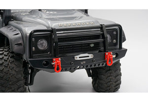 Yeah Racing Black Aluminium TRX-4 & SCX10 II Front Bumper w/ LED Lights