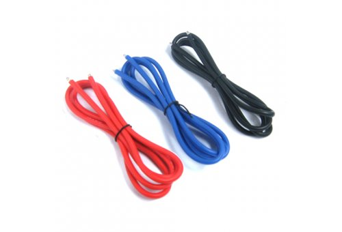 Yeah Racing 12AWG Red, Black and Blue Silicone Wire 600mm w/ Shrink Wrap #WPT-0030