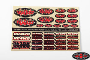 RC4WD Medium Decal Sheet