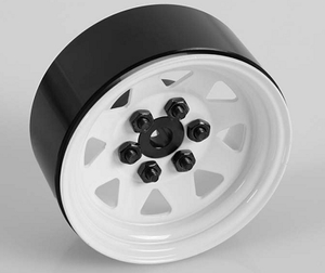 RC4WD 6 Lug Wagon 1.9 Steel Stamped Beadlock wheels white