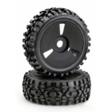 "Absima 1/8 Wheel Set Buggy Disc ""Dirt"" Black (2)"