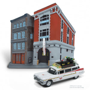 1:64 GHOSTBUSTERS FIREHOUSE W/ECTO 1A