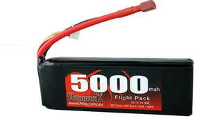 REDBACK RACING BATTERY, 11.1V LIPO, 5000MAH 30C, FLIGHT RBLP3C50