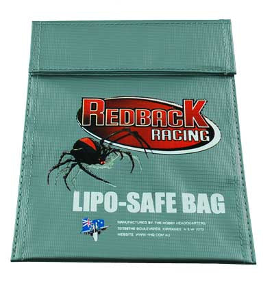REDBACK RACING CHARGE BAG, LARGE FOR LI-PO'S 295X235MM RBLPLBAG