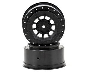 JConcepts 12mm Hex Hazard Short Course Wheels w/3mm Offset (Black) (2) (SC5M) #JC3344B