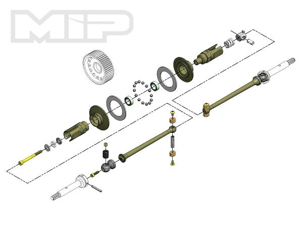 MIP Pucks™, 17.5 Drive System, All TLR 22 4.0 #17140