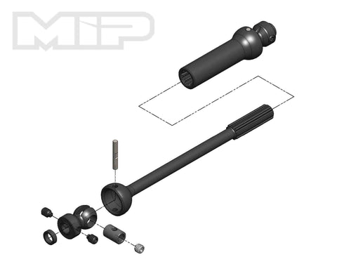 MIP X-Duty™, Center Drive Kit, Single Shaft, 140mm to 165mm w/ 5mm Hubs, Axial Yeti #18170