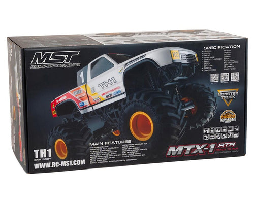 MST MTX-1 RTR 2WD Monster Truck w/TH1 Body (White) #MXS-531602W
