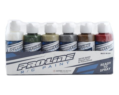 Pro-Line RC Body Airbrush Paint Military Color Set (6)