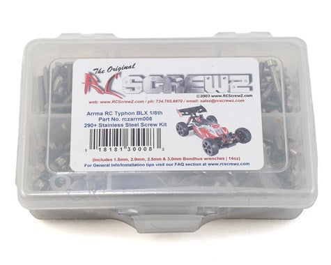 RC Screwz Arrma RC Typhon BLX Stainless Steel Screw Kit