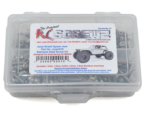 RC Screwz Axial Wraith Spawn Stainless Steel Screw Kit