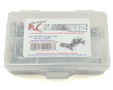 RC Screwz Tekno RC EB410 Buggy Stainless Steel Screw Kit