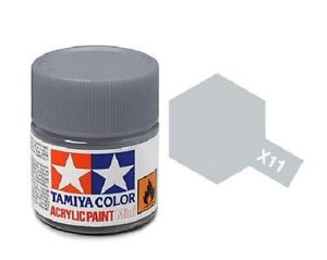 Tamiya X-11 Chrome Silver Gloss Acrylic Paint 10ml # 81511