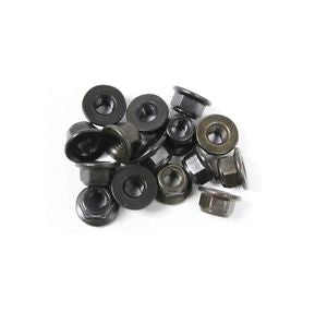 Rovan 5mm Flanged Black Nyloc Nuts 15Pcs # 68038