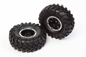 REDCAT PRE-MOUNTED  WHEEL & TIRE SET (2PCS) #13851