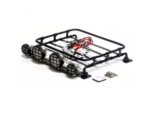Roof Luggage Rack with LED Light Bar for 1/8, 1/10 RC Cars(DTLR01009)