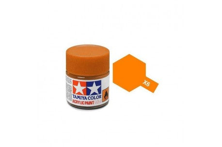 Tamiya X-6 Orange Gloss Acrylic Paint 10ml #81506